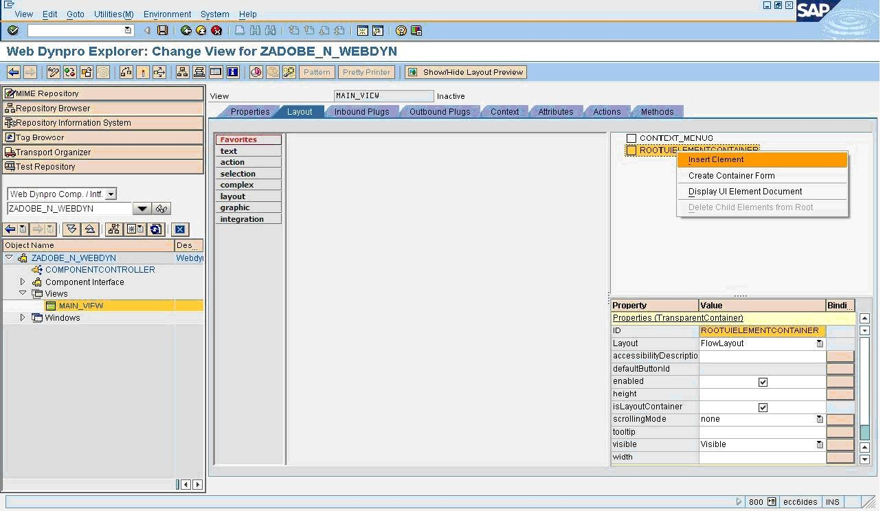call adobe form through abap web dynpro web dynpro abap scn wiki 4 create an interactive form element in the view main view layout