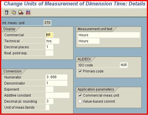Unit Of Measure Related Settings In Sap Application