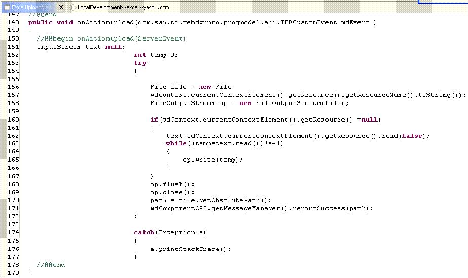 Uploading Excel file to the WebDynpro table - Java