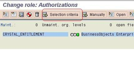 How to create CRYSTAL_ENTITLEMENT SAP role - Business Intelligence