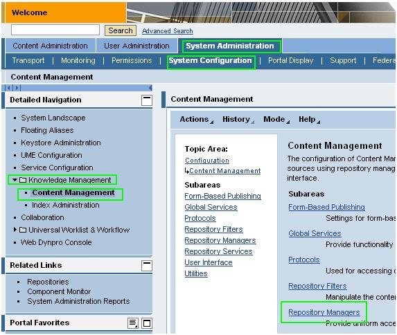 Integrate BOEXI3 1 into a KM Navigation into SAP EP portal