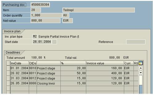 Invoicing Plan - Erp Scm - Scn Wiki