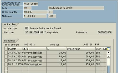 Invoicing Plan ERP SCM SCN Wiki - Open invoice meaning