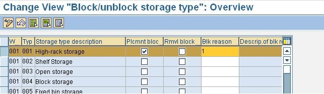 Block and unblock the storage bin - ERP Operations - SCN Wiki