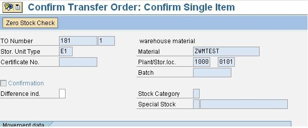 Process unconfirmed Transfer order in WM - Supply Chain Management