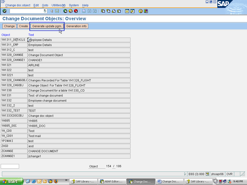 Maintaining Change Log for Database Tables - ABAP