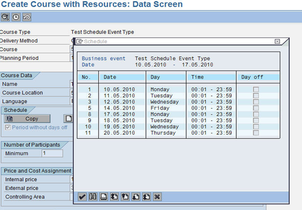 creating long course schedule erp human capital management scn wiki
