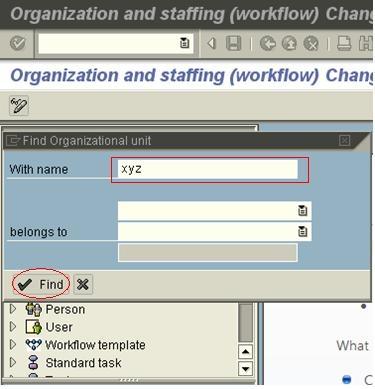 Organizational Plan in Workflows - ABAP Development - SCN Wiki