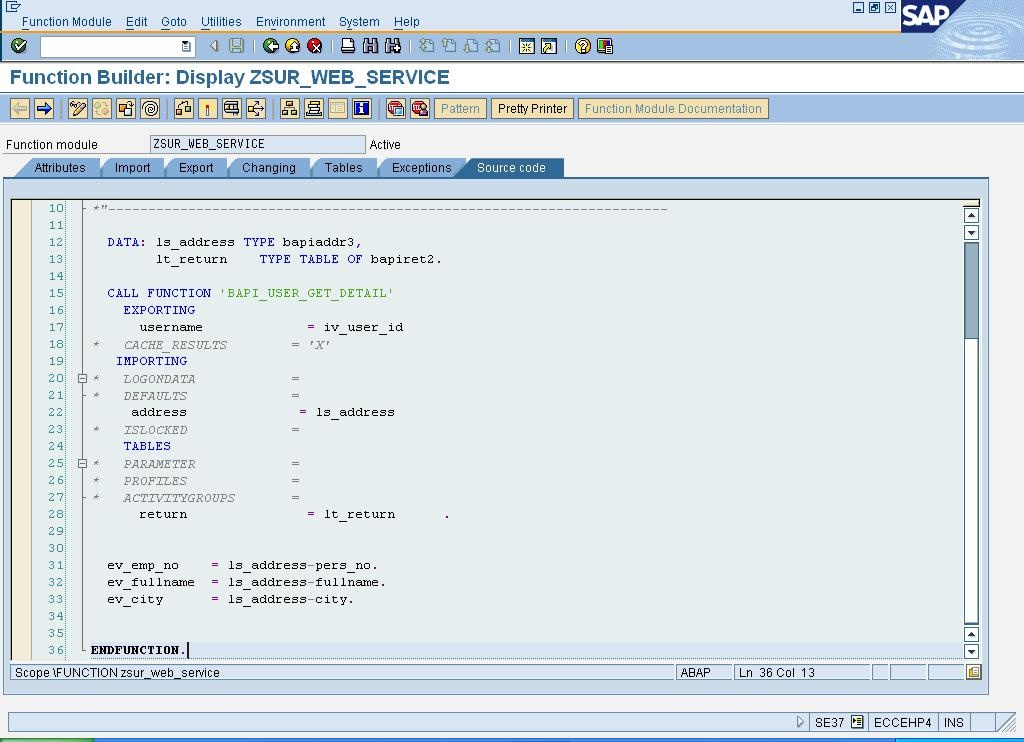 Web Service Publishing - ABAP Development - SCN Wiki