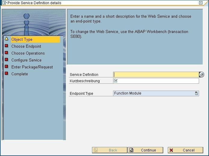 Web writing services sap abap