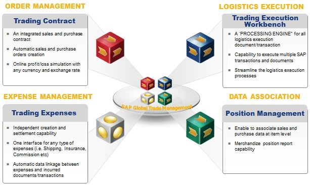 Global trade management system sap