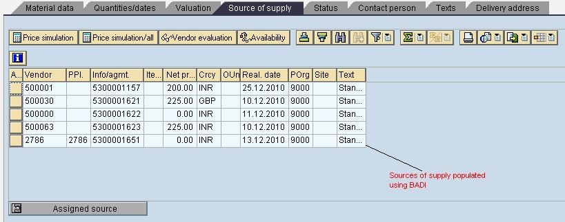 Purchase Req  Line item Data manipulation using BADI