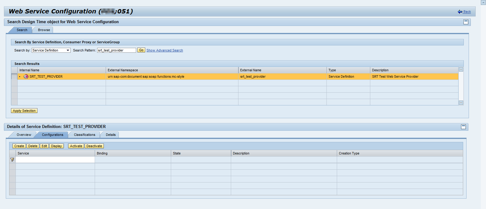 How to configure a Service Provider - ABAP Connectivity