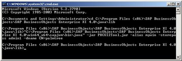 Generate keystore and certificate for SAP BO BI4 0