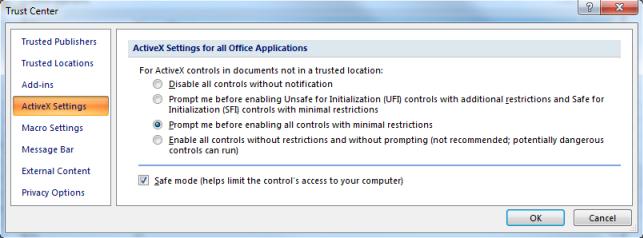 Excel settings for using BEx Analyzer 7x - SAP NetWeaver