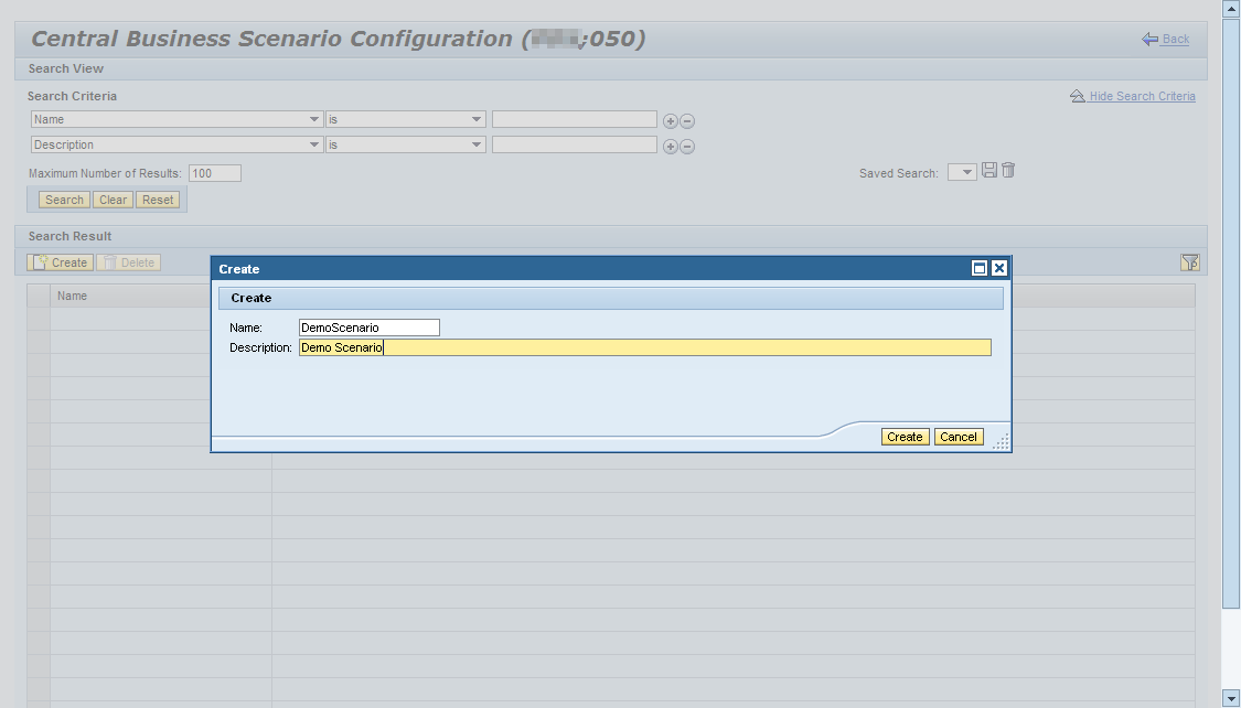 how to create process extension scenario sap