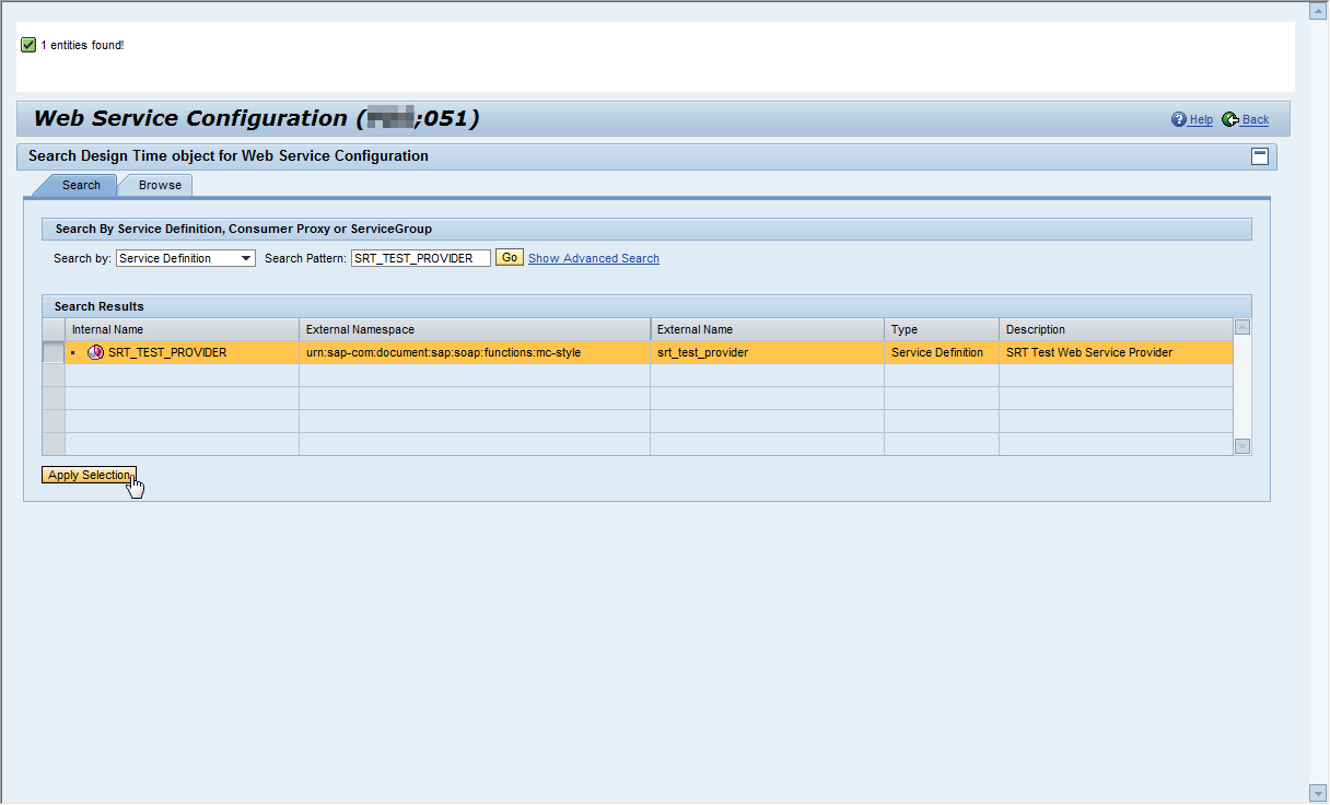 How to find Web Service WSDL in SOA Manager - ABAP