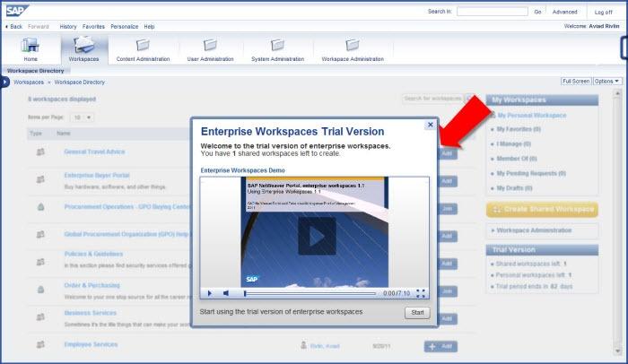SAP NetWeaver Portal, Enterprise Workspaces