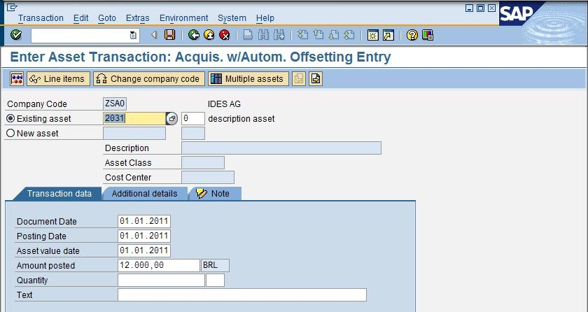 Asset Acquisition Sap Sap Fico Docs
