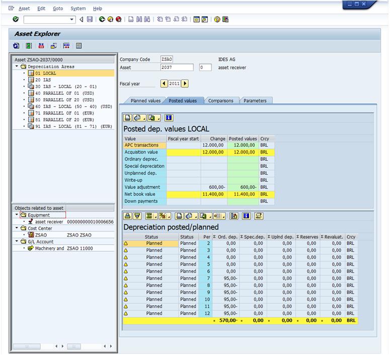 Basics Of Asset Accounting Asset Explorer Sap Simple Docs