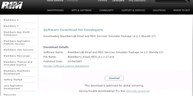 Set Up SAP BI 4 0 Mobile with BlackBerry Simulator