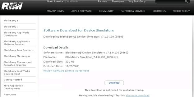 Set Up SAP BI 4 0 Mobile with BlackBerry Simulator - Business