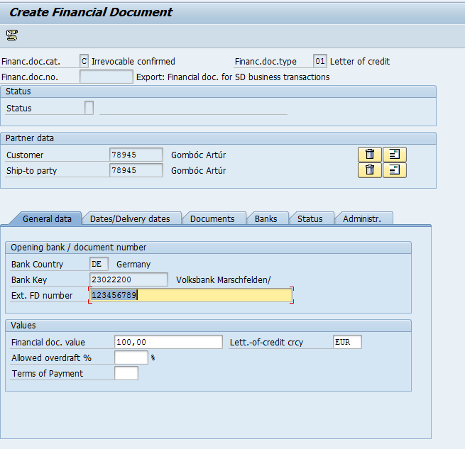 Activate Letter of Credit in SD documents - ERP SD - SCN Wiki