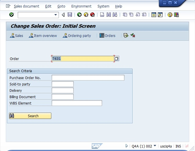 creating a sales order erp sd scn wiki