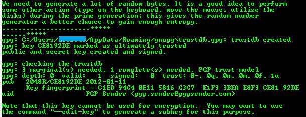 Generating ASCII Armored PGP Key Pairs - Process Integration