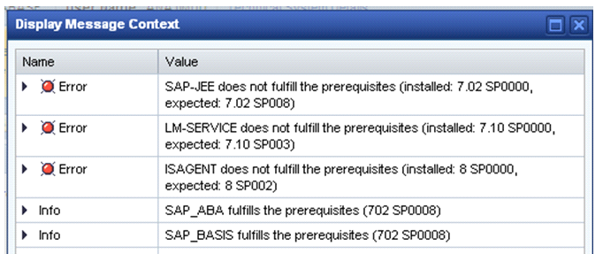 I am facing an issue while checking the prerequisites during managed