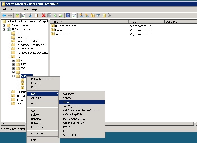 Setting Up The Active Directory Server Business