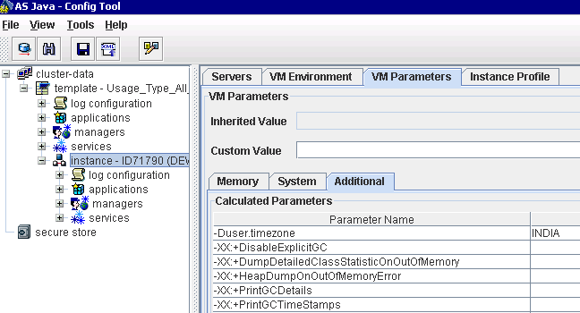how to set parameters in java