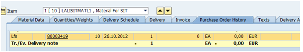 how to create outbound delivery for purchase order