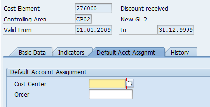 account requires an assignment to a co object