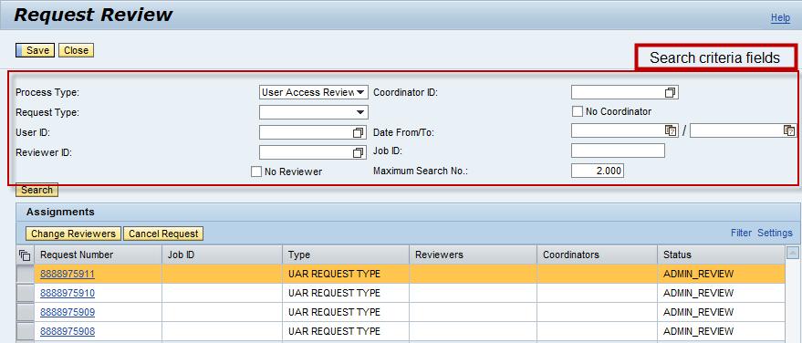 User Access Review(UAR) Workflow Configuration and Description