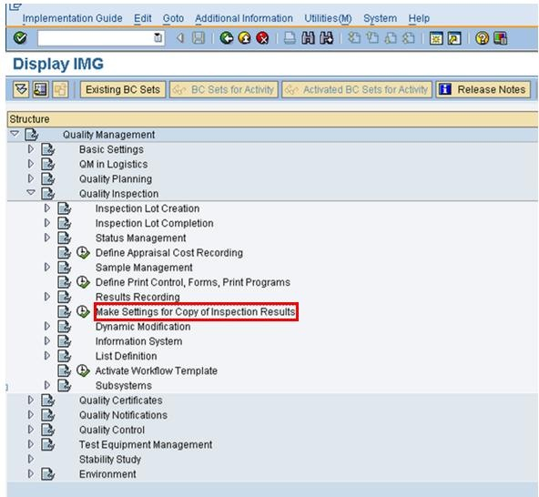 copy inspection results from previous inspection lot product rh wiki scn sap com Quality Management SAP Help SAP QM