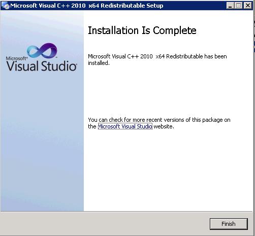visual c++ 2010 x64 redist