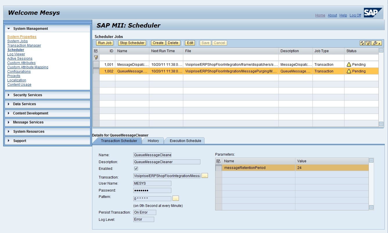 Checking Messages In Meint Queue Monitor Sap