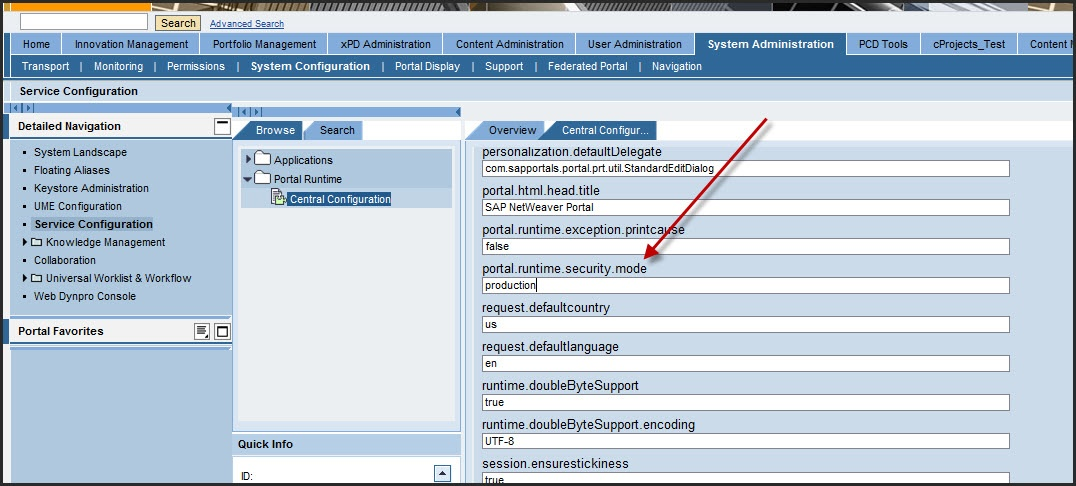 How To Change Sap Enterprise Portal Runtime Mode Portal