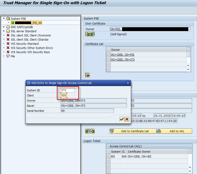 Configure AS ABAP to accept logon tickets issued by AS Java