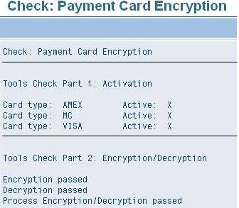 Payment Card Encryption - ERP SD - SCN Wiki