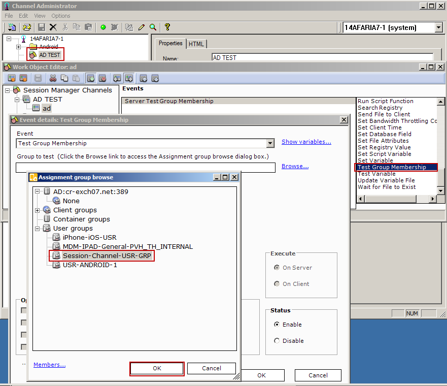 How to use Microsoft Active Directory user group assignments