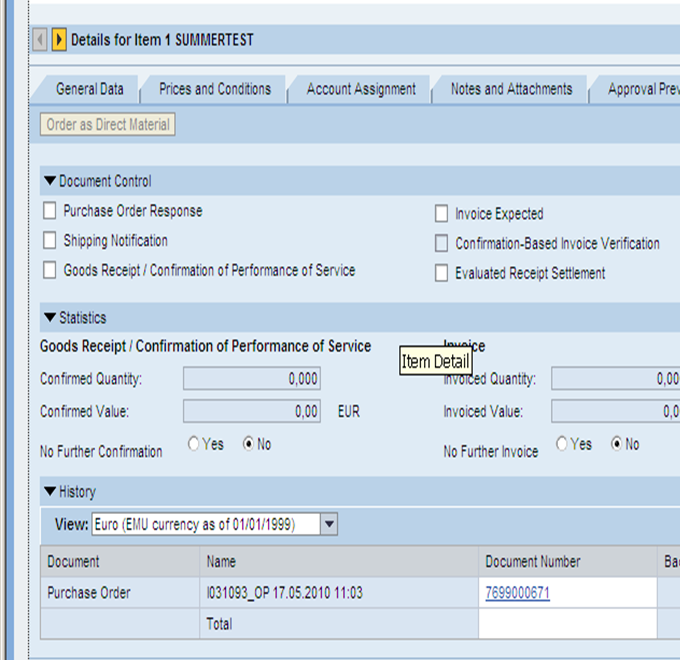 how to raise po in sap