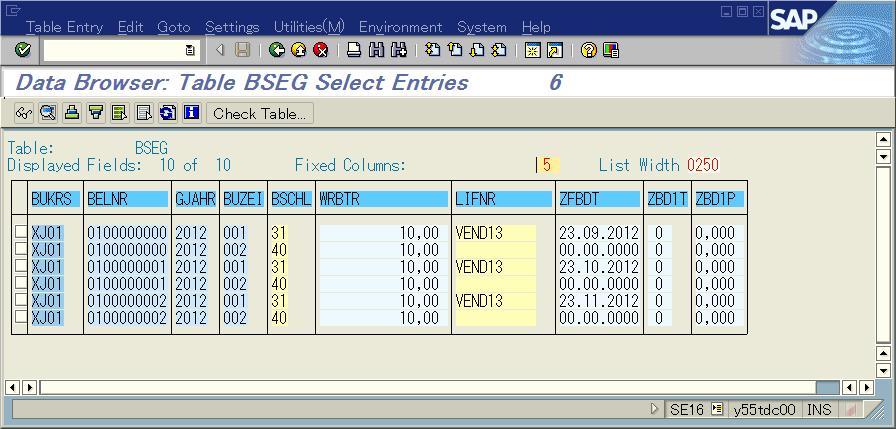 Senarios and examples for BOE vendor - ERP Financials ...