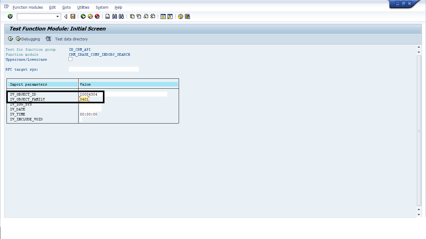 Important Installed BaseTable and Function Module in SAP CRM