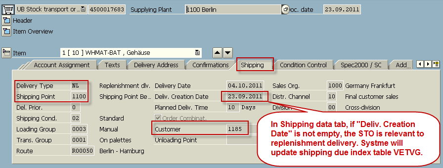Shipping Data and Delivery Due Index - ERP SCM - SCN Wiki