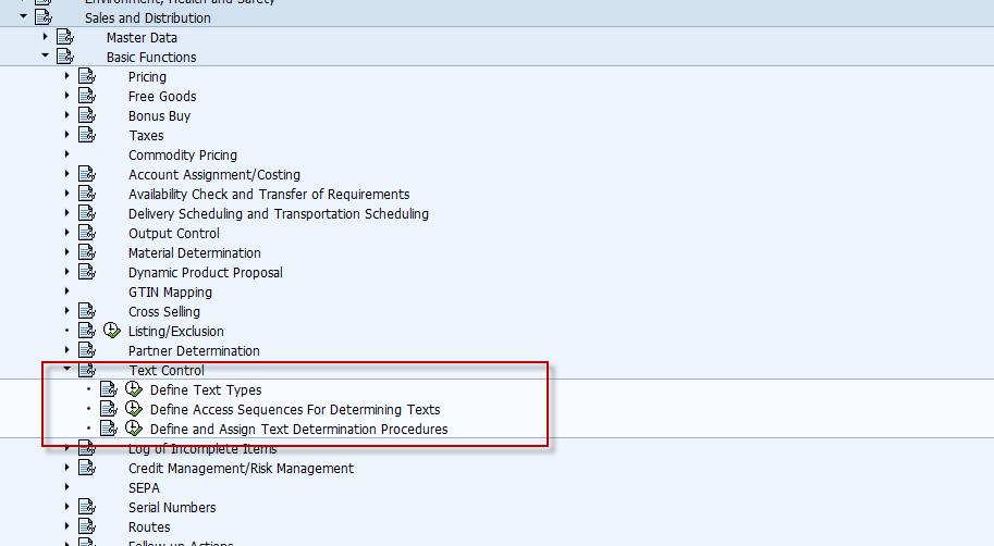 Defining Text Procedure in SD - ERP SD - SCN Wiki