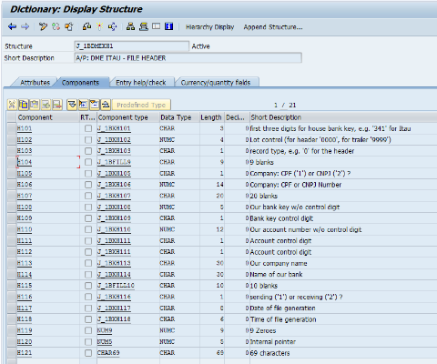 How to check the data mapping in Brazilian DME file