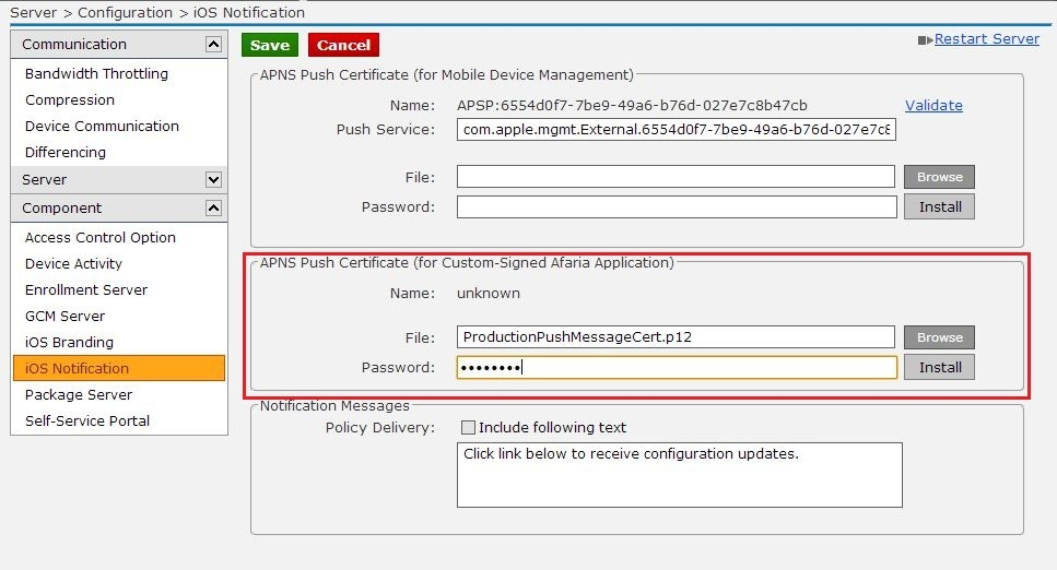 How to generate an APNS certificate used for sending push messages