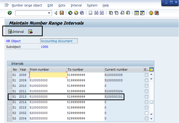 Number Range In Financial Accounting - ERP Financials - SCN Wiki